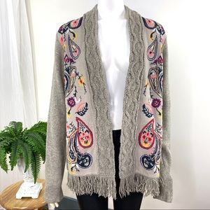 Sleeping on Snow Folklore Cardigan by Anthro Large